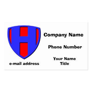 H BUSINESS CARD TEMPLATES