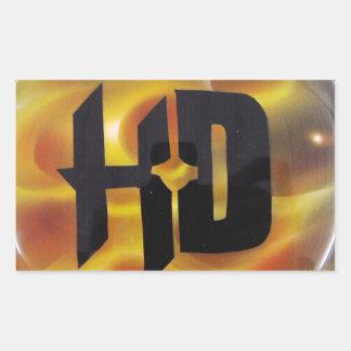 H-D TRUE FIRE RECTANGULAR STICKER