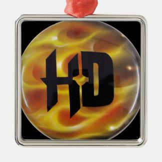 H-D TRUE FIRE Silver-Colored SQUARE DECORATION