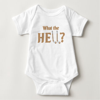 H - E - Double-hockey-sticks Baby Bodysuit