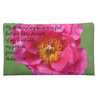 H&G Peony A~Heart Cosmetic Bag