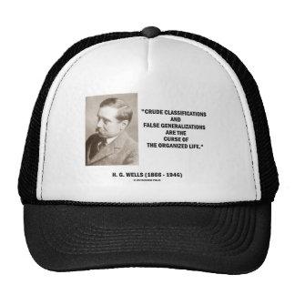 H.G. Wells Crude Classifications False Curse Life Mesh Hat