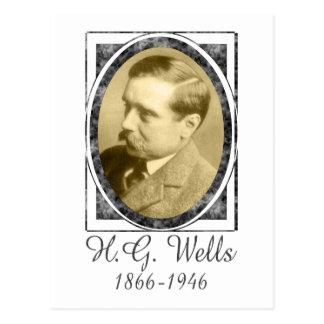H G Wells Postcard