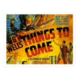 "H. G. Wells' ""Things To Come"" Postcard"