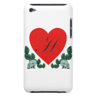 H in a heart barely there iPod cover