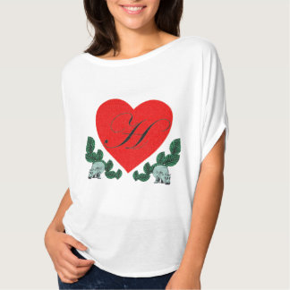 H in a heart T-Shirt