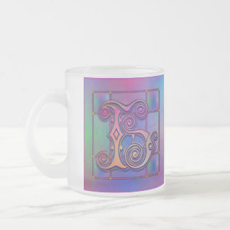 "H Initial ""Blue Rain Glass"" Mugs Cups Steins Mugs"