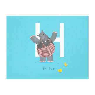 H is for... canvas print