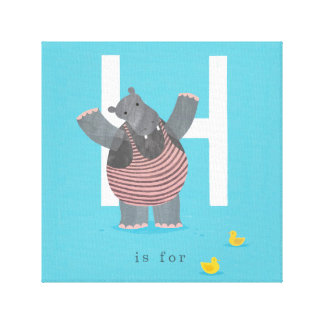 H is for... gallery wrap canvas