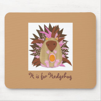 H is for Hedgehog Mouse Mat