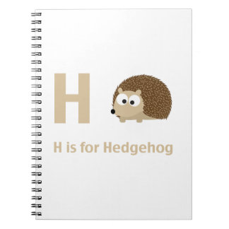 H is for Hedgehog Notebooks