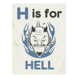 H is for Hell Postcard