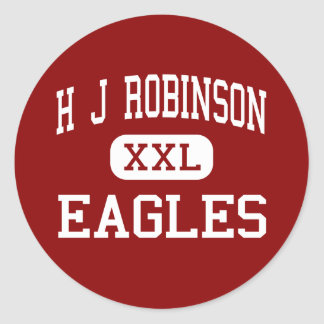 H J Robinson - Eagles - Middle - Lowell Round Sticker