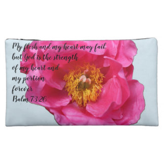 H&L Peony A~Heart Cosmetic Bag