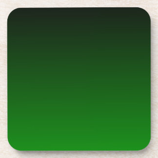 H Linear Gradient - Black to Green Beverage Coaster