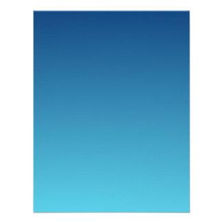 H Linear Gradient - Dark Blue to Light Blue Custom Invitation