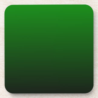 H Linear Gradient - Green to Black Coaster