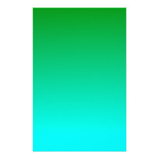 H Linear Gradient - Green to Cyan Custom Stationery