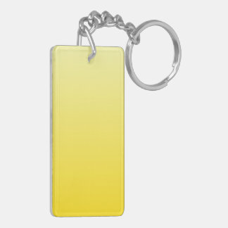 H Linear Gradient - Light Yellow to Dark Yellow Rectangle Acrylic Key Chain