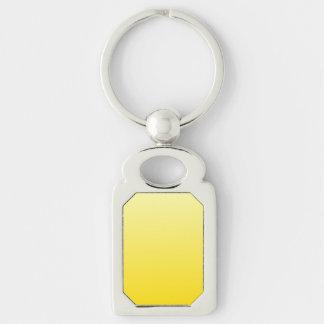 H Linear Gradient - Light Yellow to Dark Yellow Keychain