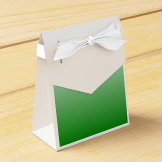 H Linear Gradient - White to Green Party Favor Box