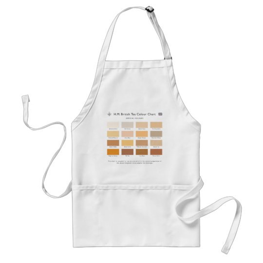 H.M. British Tea Colour Chart Apron