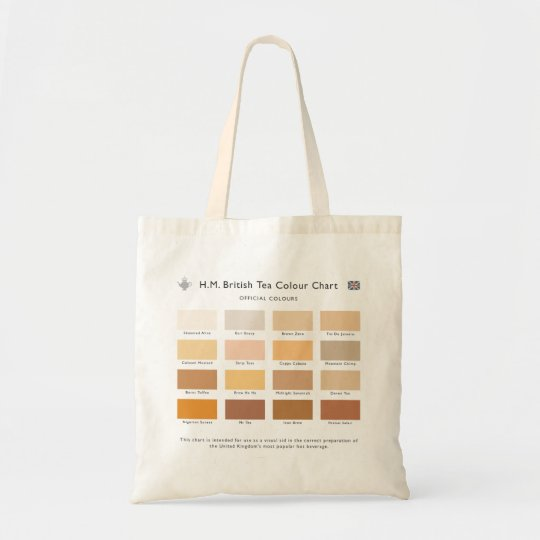 H.M. British Tea Colour Chart Bag