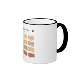 H.M. British Tea Colour Chart Mug (Black Rim)