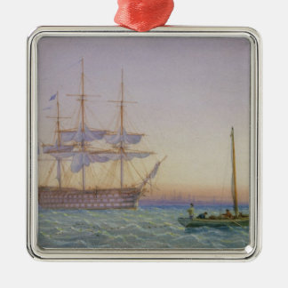 H.M. Frigates at Anchor Christmas Ornament