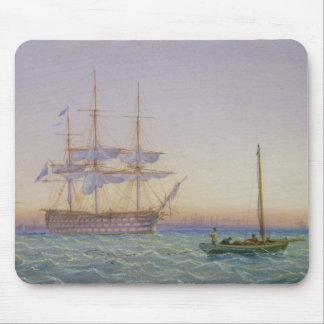 H.M. Frigates at Anchor Mouse Pad