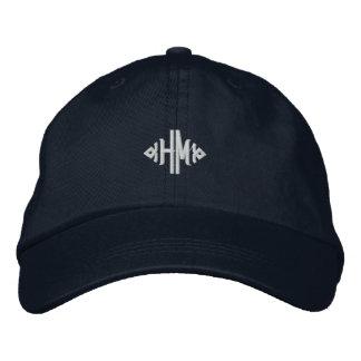 H.M. Monogram Embroidered Baseball Cap