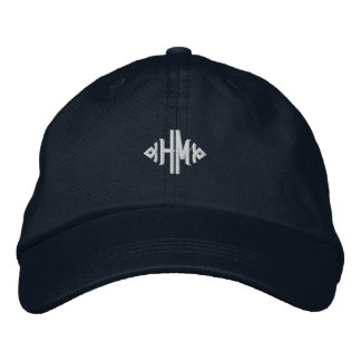 H.M. Monogram Embroidered Hat