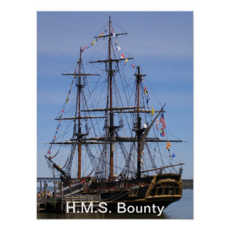 H.M.S. Bounty Poster