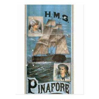 H M S Pinafore Retro Theater Postcards