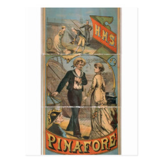 H M S Pinafore Vintage Theater Post Card