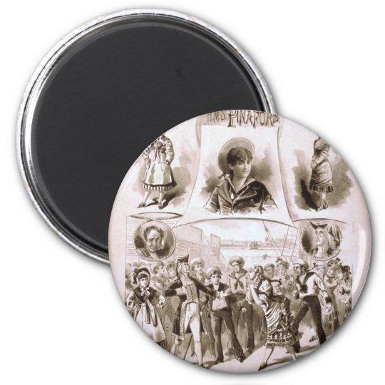 H.M.S. Pinafore Vintage Theatre Magnet