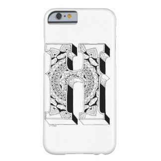H - Mandala N°1 inside Alphabet N°1 Barely There iPhone 6 Case
