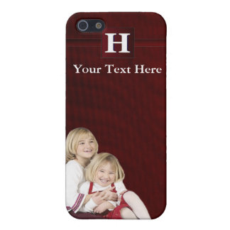 H – Monogram Photo Template - For 4 Case For iPhone 5