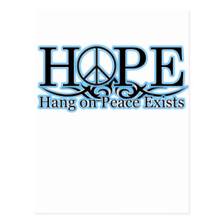 H.O.P.E - Hang On Peace Exists Post Cards