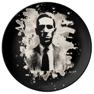 H.P. Lovecraft of tributes Plate