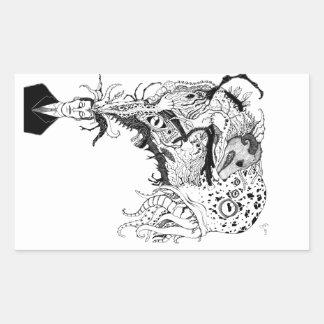H.P. Lovecraft's monsters Rectangular Sticker