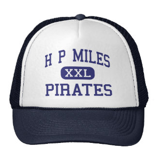 H P Miles Pirates Middle School Waco Texas Mesh Hats