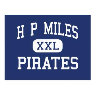 H P Miles Pirates Middle School Waco Texas Postcard