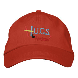 H.U.G.S. for Autism Embroidered Adjustable Hat Embroidered Baseball Cap