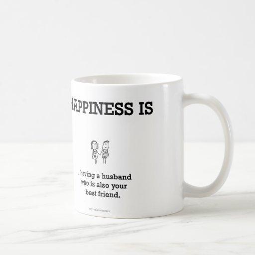 HA803: Happiness Husband Best Friend Coffee Mug