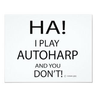 Ha Autoharp 11 Cm X 14 Cm Invitation Card