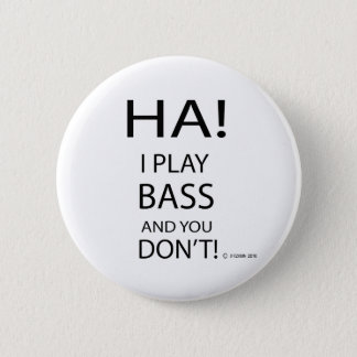 Ha Bass 6 Cm Round Badge