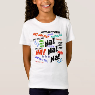 """HA HA"" GIRLS BELLA FITTED BABYDOLL T-SHIRT"