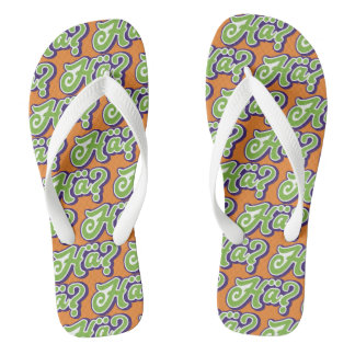Hä? Huh? German Slang, Germany Flipflops