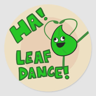 """Ha! Leaf Dance"" sticker"